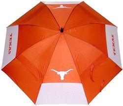 (Texas Longhorns) - Team Golf NCAA 160cm Golf Umbrella with Protective Sheath, Double Canopy Wind Protection Design, Auto Open Button