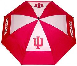 (Indiana Hoosiers) - Team Golf NCAA 160cm Golf Umbrella with Protective Sheath, Double Canopy Wind Protection Design, Auto Open Button