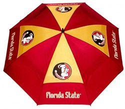 (Florida State Seminoles) - Team Golf NCAA 160cm Golf Umbrella with Protective Sheath, Double Canopy Wind Protection Design, Auto Open Button
