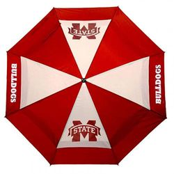 (Mississippi State Bulldogs) - Team Golf NCAA 160cm Golf Umbrella with Protective Sheath, Double Canopy Wind Protection Design, Auto Open Button