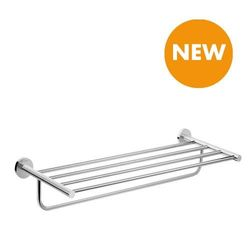 (Towel Rack with Towel Holder) - hansgrohe 41720000 Logis Universal Rack with Towel Holder Bathroom Accessories, Chrome