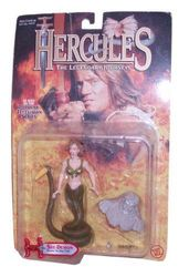 Hercules The Legendary Journeys TV Series 13cm Tall Action Figure : She-Demon with Stone Striking Tail and a Statue Block
