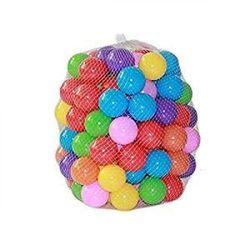 (Mix Colour-50p) - Kaptin 8cm Soft Plastic Ocean Ball,Colourful Ball Fun Ball Kids Ball Swim Pit Toy Ball Tent Toddler Ball Play Balls for Indoor & Outdoor (50pcs) (Mix Colour-50p)