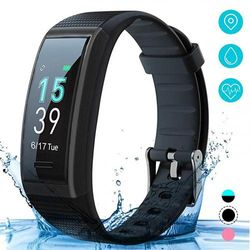 (Black) - AKASO Helium Fitness Tracker Activity Tracker with Heart Rate and Sleep Monitor Smart Pedometer Watch Calorie Counter Step Counter Fitness Tracker Watch for Kids Women Man (H-BAND3)