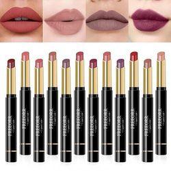 (A) - FREEORR Matte Lipstick Set, 12PCS Nude Moisturiser Smooth Lip Stick, Waterproof Liquid Long Lasting Lipstick Mate Make Up Velvet Lip Gloss Cosmetic