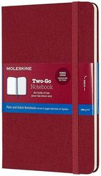 (Cranberry Red) - Moleskine Classic Ruled and Plain Paper Notebook, Hard Canvas Cover and Elastic Closure Journal, Colour Cranberry Red, Size Medium 11.5 x 18, 144 Pages