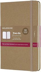 (Kraft Brown) - Moleskine Classic Ruled and Plain Paper Notebook - Hard Cover and Elastic ClosureJournal, Kraft Brown, Medium 11.5 x 18, 144 Pages