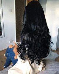 (36cm , 1) - Sunny Clip in Hair Extensions Human Hair Black Seamless PU Tape Real Hair Extensions Clip in Human Hair Colour 1 Jet Black Silky Straight Clip Hair 7pcs 140g 36cm