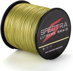 (2000m/2187Yards 30lb/0.26mm) - Times Spectra Extreme Braid Braided Fishing Line 2.7-140kg Test 100m-2000m Army Green