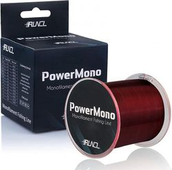(7.7kg(7.7kgs)/0.33mm/300yds, E - Brown) - RUNCL PowerMono Fishing Line, Monofilament Fishing Line 300/500/1000Yds - Ultimate Strength, Shock Absorber, Suspend in Water, Knot Friendly - Mono Fishing Line 1.4-16kg, Low- & High-Vis Available