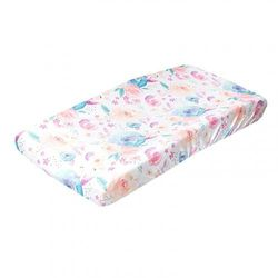 """(Bloom) - Premium Knit Nappy Changing Pad Cover""""Bloom"""" by Copper Pearl"""
