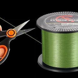 (14kg - 547YDS - 500M - 4Stands, Green) - Mounchain 100% PE 4 & 8 Strands Braided Fishing Line, 10 20 30 18kg Sensitive Braided Lines, Super Performance and Cost-Effective, Abrasion Resistant