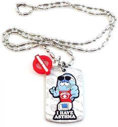 (Asthma) - AllerMates Kids Medical Alert Asthma Children's Necklace