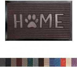(60cm x 90cm , Dark Brown Home Paw) - Gorilla Grip Original Durable Rubber Door Mat, 35x23, Heavy Duty Doormat for Indoor Outdoor, Waterproof, Easy Clean, Low-Profile Rug Mats for Entry, Patio, High Traffic Areas, Dark Brown Home Paw