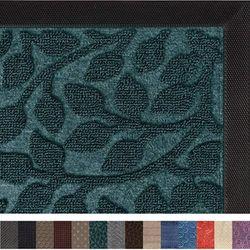 (43cm x 70cm , Green Vine Leaves) - Gorilla Grip Original Durable Rubber Door Mat, 29x17, Heavy Duty Doormat, Indoor Outdoor, Waterproof, Easy Clean, Low-Profile Rugs for Entry, Patio, High Traffic Areas, Green Vine Leaves