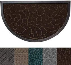 (60cm x 90cm , Dark Brown Pebble) - Gorilla Grip Original Durable Rubber Door Mat, Heavy Duty Doormat for Indoor Outdoor, 35x23 Half Circle, Waterproof, Easy Clean, Low-Profile Rug Mats for Entry, High Traffic Areas, Dark Brown Pebble