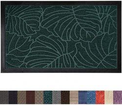 (60cm x 90cm , Green Palm) - Gorilla Grip Original Durable Rubber Door Mat, 23x35, Heavy Duty Doormat for Indoor Outdoor, Waterproof, Easy Clean, Low-Profile Rug Mats for Winter Snow, Entry, Patio, High Traffic Areas, Green Palm