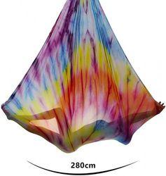 (Mandala) - Aerial Yoga Hammock 5.5 Yards Premium Aerial Silk Fabric Yoga Swing for Antigravity Yoga Inversion Include Daisy Chain,Carabiner and Pose Guide