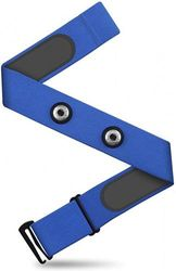 CooSpo Heart Rate Chest Strap Replacement Adjustable Elastic Band for Wahoo, Polar, Garmin, Strava, Zwift(Blue-L)