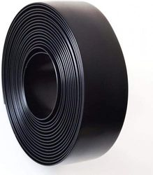 Black 5.1cm Wide 6.1m Length Chair Vinyl Strap Strapping for Patio Lawn Garden Outdoor Furniture Matte Finish Colour