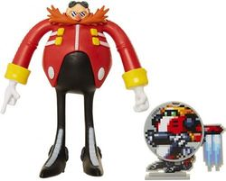 (Eggman) - Sonic The Hedgehog Collectible Eggman 10cm Bendable Flexible Action Figure with Bendable Limbs & Spinable Friend Disc Accessory Perfect for Kids & Collectors Alike! for Ages 3+ (400594)