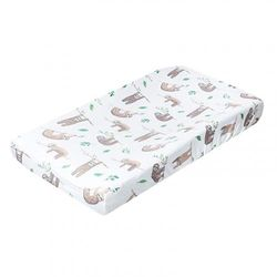 """(Noah) - Premium Knit Nappy Changing Pad Cover""""Noah"""" by Copper Pearl"""
