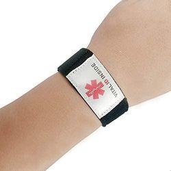 Adjustable Emergency Medical Alert ID Bracelet with 2 Inserts for Kids Babies Children