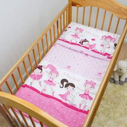 (Pattern 17) - 2 Piece Baby Kids Bedding Set 120x90cm Duvet Cover & Pillowcase for Toddler Cot