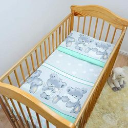 (Pattern 25) - 2 Piece Baby Kids Bedding Set 120x90cm Duvet Cover & Pillowcase for Toddler Cot (Pattern 25)