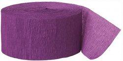 Unique Industries party decoration Crepe Paper Streamer, 80m, Purple