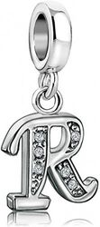 (R) - KunBead Jewellery Letter Charms Initial Dangle Alphabet Love Crystal Beads for Charm Bracelets for Women