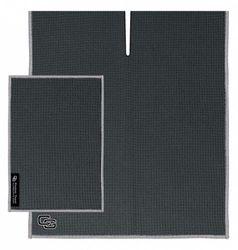(Slate) - NEW Club Glove Microfiber Caddy + Pocket Towel 43.2cm x 101.6cm SLATE grey