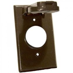 Morris Products One Gang Weatherproof Covers in Bronze for Vertical Single Receptacle