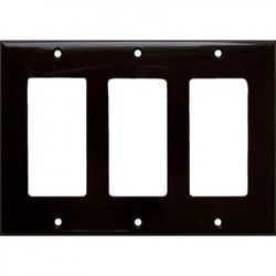 Morris Products 3 Gang Decorator / GFCI Lexan Wall Plates in Brown
