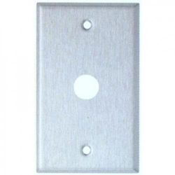 Morris Products Oversize 1 Gang Phone / Cable Wall Plate in Stainless