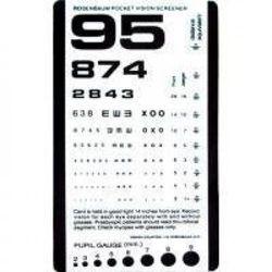 Pocket Eye Test Chart
