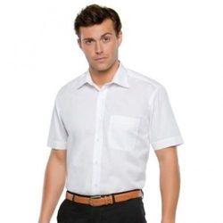 (42cm , White) - Kustom Kit Mens Short Sleeve Business Shirt