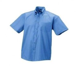 (44cm , Bright Sky) - Russell Collection Mens Short Sleeve Ultimate Non-Iron Shirt