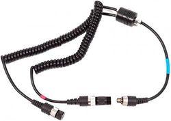 Ikelite 4103.52 Sync Cord Digital TTL Dual Housing Bulkhead to Two Strobe - Black