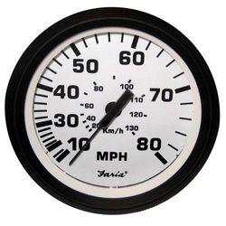 (onesize) - Faria 10cm Speedometer - 80MPH (Mechanical) - Euro White