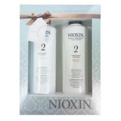 (300ml) - Nioxin System 2 Cleanser & Scalp Therapy for Fine Thinning Hair Duo 300ml