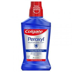 (500ml) - Colgate Peroxyl Mouth Sore Rinse, Mild Mint - 500mL, 16.9 fluid ounces