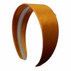 (Orange) - 5.1cm Wide Satin Hard Headband No Teeth Hair Band (Keshet Accessories)