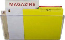 (Legal, Clear) - Storex Unbreakable Legal Sized Wall Pocket, 4.5 x 41cm x 11cm , Clear, 70321U01C