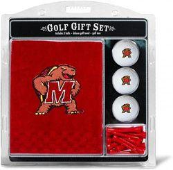 (Maryland) - Team Golf NCAA Gift Set Embroidered Golf Towel, 3 Golf Balls, and 14 Golf Tees 5.1cm - 1.9cm Regulation, Tri-Fold Towel 41cm x 60cm & 100% Cotton