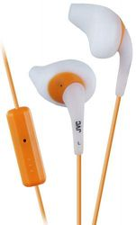 JVC HAENR15 Gumy Sport In Ear Headphones with Remote and Microphone - White