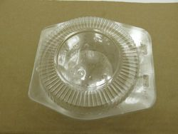 (50) - 13cm Disposable Clear Clam shell Display Container. For All 13cm tart and Pie pans 762 (50)
