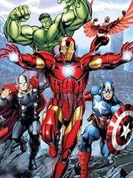 Disney Avengers Initiative Iron Man, Thor, Hulk, and Captain American Super Soft Plush Baby Size Throw Sherpa Blanket 100cm x 130cm