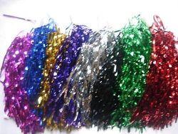 (Black) - 1 Pair Cheerleading pom poms-10 Different Colours