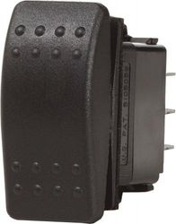 (SPST, OFF-(ON)) - Blue Sea Systems Water Resistant Black Contoura II Switches
